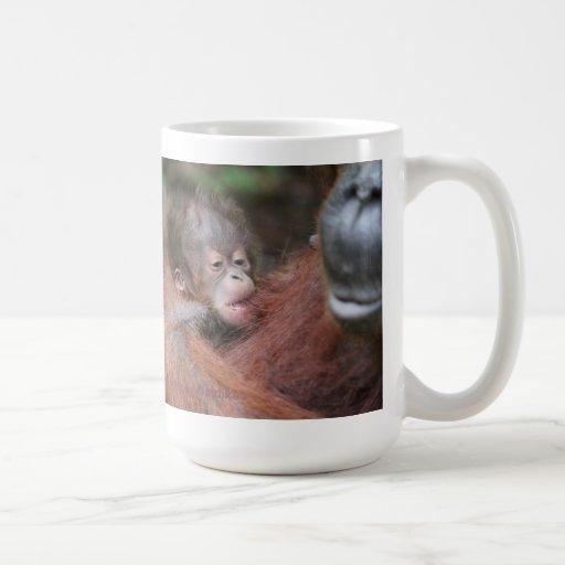 Newborn Baby Orangutan Wildlife Charity Coffee Mug