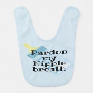 Newborn, Baby Pardon my Nipple breath bib