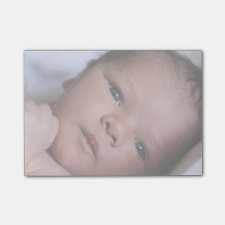 Newborn Baby Photo Gift Personalized Post It Notes