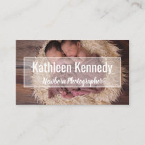 Newborn Baby Photography Modern Minimal Simple Business Card