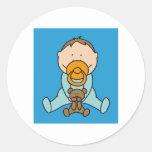 Newborn baby round sticker
