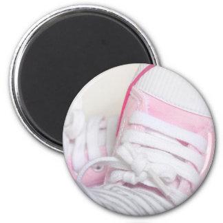 newborn baby shoes 2 inch round magnet