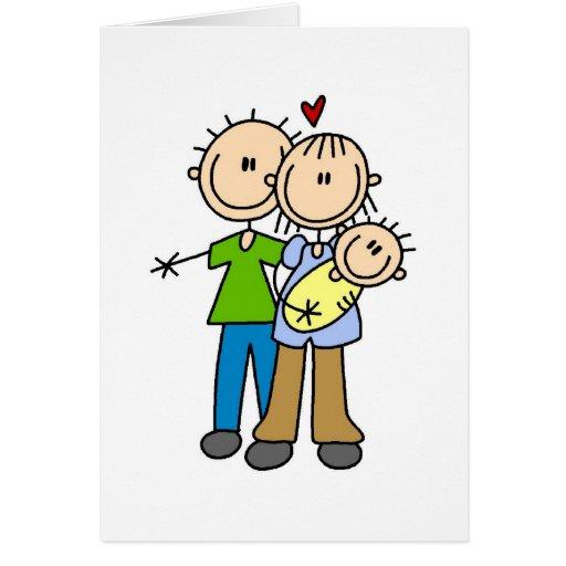 Newborn Baby Stick Figure Card