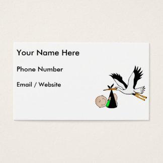 Newborn Baby & Stork Business Card
