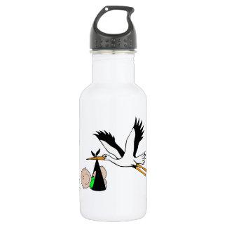 Newborn Baby & Stork Stainless Steel Water Bottle