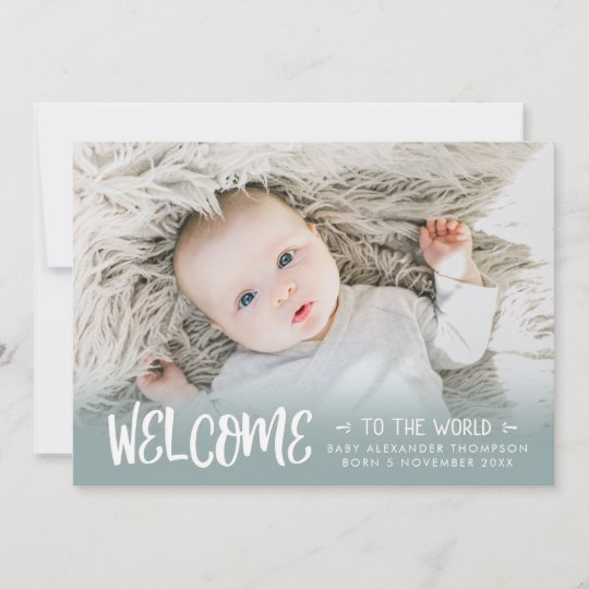 Any Letter Nursery Baby Birth Print Photo Personalised Unisex Paper Plane