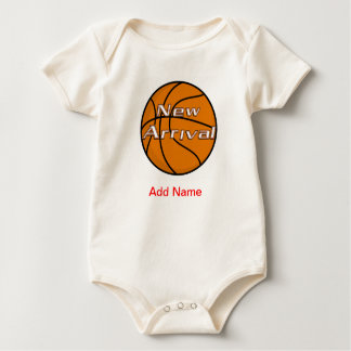 Newborn Clothes Custom American BAsketball Onsies Baby Bodysuit