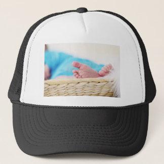newborn cute nursery crib feet footprints trucker hat