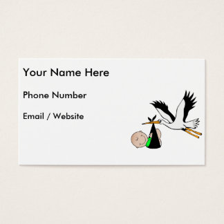 Newborn Delivery by Stork Business Card