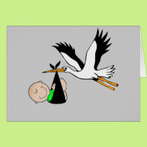 Newborn Delivery by Stork Card