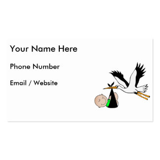 Newborn Delivery by Stork Double-Sided Standard Business Cards (Pack Of 100)