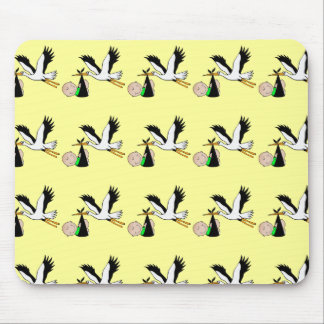 Newborn Delivery by Stork Mouse Pad