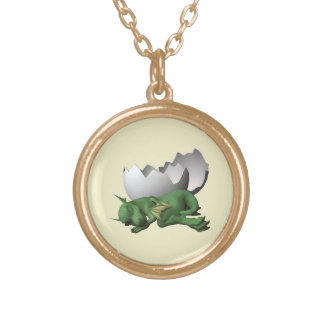 Newborn Dragon Gold Plated Necklace