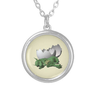 Newborn Dragon Silver Plated Necklace