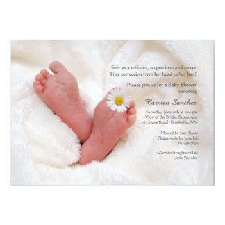 Newborn Feet Baby Shower Invitation
