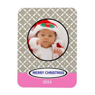 Newborn First Christmas Keepsake Photo Magnet