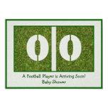 Newborn Football Player Baby Shower 5x7 Paper Invitation Card