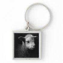 Newborn Lamb Keychain