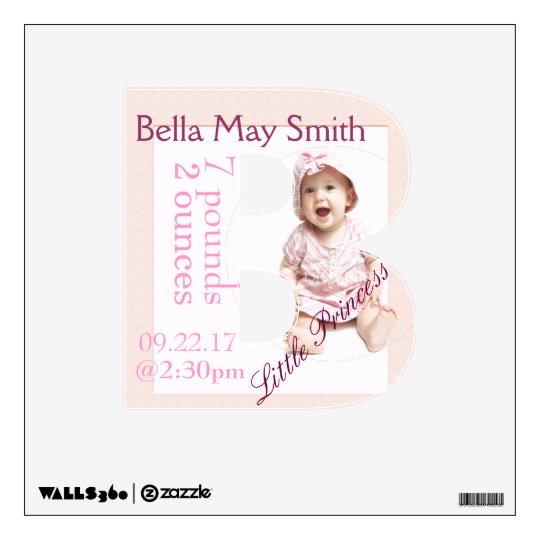 Newborn letter B Wall Sticker