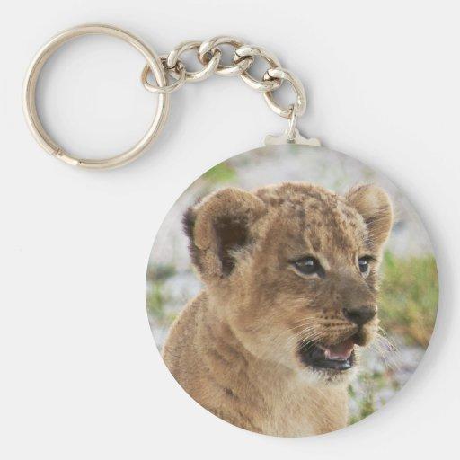 newborn lion cub llavero personalizado