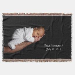Newborn Photo Custom Throw Blanket