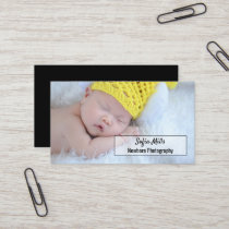 Newborn Photography Baby Photographer Photo Business Card