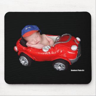 Newborn Racing Baby Mouse Pad