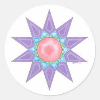 NewBorn Star Round Sticker