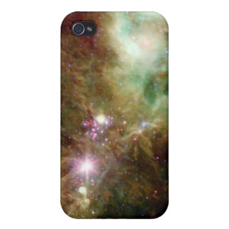 Newborn stars in the Christmas Tree cluster iPhone 4 Case