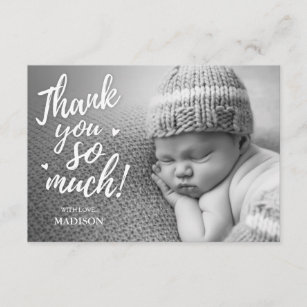 Baby Shower Photo Thank You Cards Zazzle