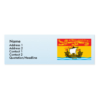 newbrunswick, Canada Double-Sided Mini Business Cards (Pack Of 20)