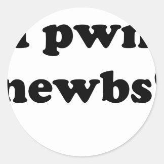 ¡Newbs del pwn I! Pegatinas Redondas