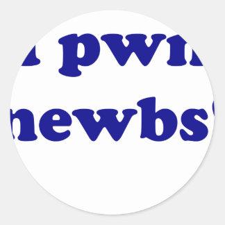 ¡Newbs del pwn I! Etiquetas Redondas