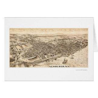 Newburgh, NY Panoramic Map - 1900 Card