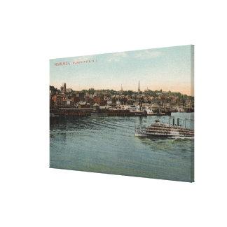 Newburgh, NY - Waterfront view of Hudson River Canvas Print