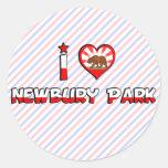 Newbury Park, CA Etiqueta Redonda