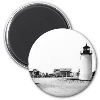 Newburyport Harbor Lighthouse 2 Inch Round Magnet