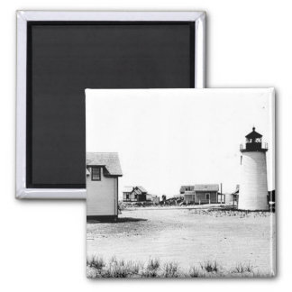 Newburyport Harbor Lighthouse 2 Inch Square Magnet