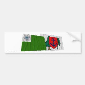 Newburyport Waving Flags Bumper Sticker