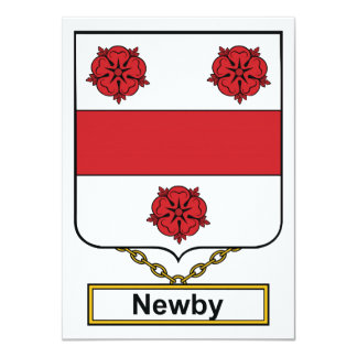 Newby Family Crest 4.5x6.25 Paper Invitation Card