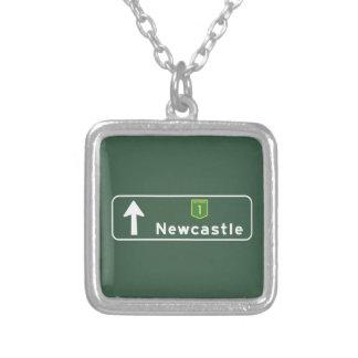 Newcastle, Australia Road Sign Pendant
