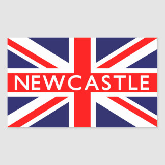 Newcastle : British Flag Rectangular Sticker