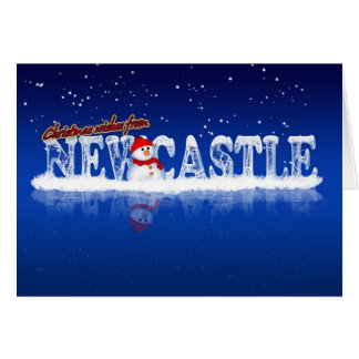 Newcastle Christmas Card - Christmas Wishes