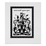 newcastle coat of arms poster