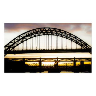 Newcastle sobre tarjeta de visita del puente de Ty