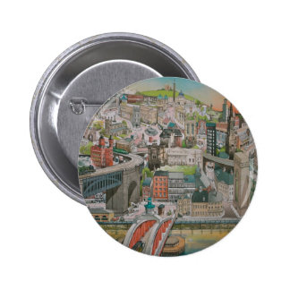 Newcastle upon Tyne through the Years Button Badge