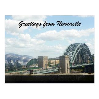 newcastle view postcard