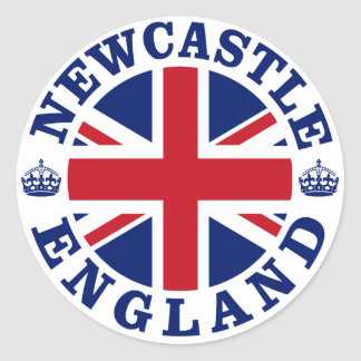 Newcastle Vintage UK Design Classic Round Sticker