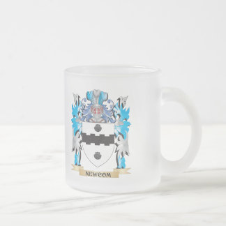 Newcom Coat of Arms - Family Crest 10 Oz Frosted Glass Coffee Mug