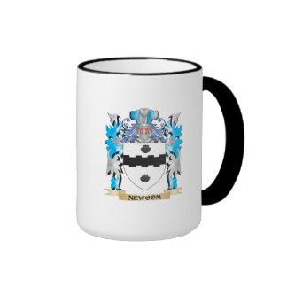 Newcom Coat of Arms - Family Crest Ringer Coffee Mug